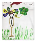 Paint By Wine Fleece Blanket