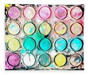 Paint Colors Fleece Blanket