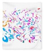 Paint Experiment 033 Fleece Blanket