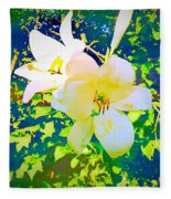 Paint Me In Water Color Said The Lilies To The Artist Fleece Blanket