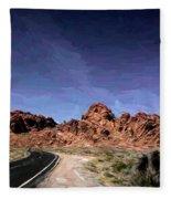 Paint Mixed Valley Of Fire Landscape  Fleece Blanket