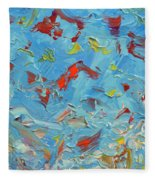Paint Number 47 Fleece Blanket