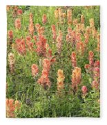 Paintbrush Beauties Fleece Blanket