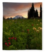 Paintbrush Sunset Fleece Blanket