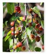 Painted Berries Fleece Blanket