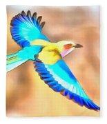 Painted Birds In Skyline Fleece Blanket