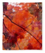 Painted Branches Abstract 5 Fleece Blanket