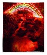 Painted Christmas Waterfall Fleece Blanket
