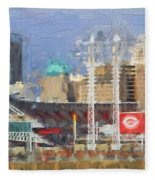 Painted Cincinnati Ohio Fleece Blanket