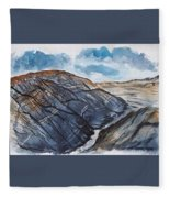 Painted Desert Landscape Mountain Desert Fine Art Fleece Blanket