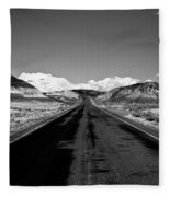 Painted Desert Road #2 Fleece Blanket