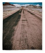 Painted Desert Road #4 Fleece Blanket