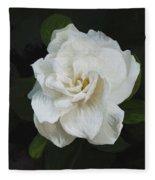 Painted Gardenia Fleece Blanket