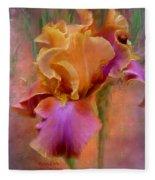 Painted Goddess - Iris Fleece Blanket