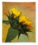 Painted Golden Beauty Fleece Blanket