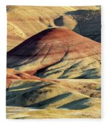 Painted Hills, Oregon Fleece Blanket