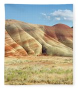 Painted Hills Pano 1 Fleece Blanket