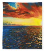Painted Horizon Fleece Blanket