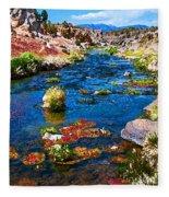 Painted Hot Creek Springs Fleece Blanket