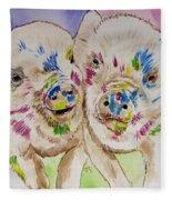 Painted Ladies Fleece Blanket