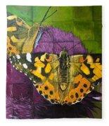Painted Lady Butterflies Fleece Blanket