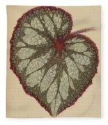 Painted Leaf Begonia Fleece Blanket