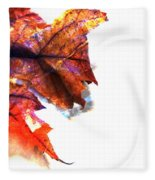 Painted Leaf Series 1 Fleece Blanket