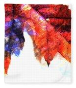 Painted Leaf Series 4 Fleece Blanket