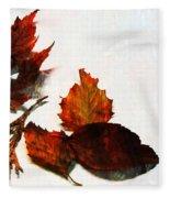 Painted Leaf Series 5 Fleece Blanket