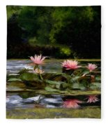 Painted Lily Fleece Blanket