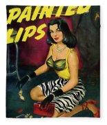 Painted Lips Fleece Blanket