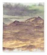 Mountainous Landscape Fleece Blanket