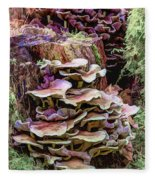 Painted Mushrooms Fleece Blanket