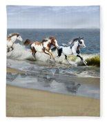 Painted Ocean Fleece Blanket