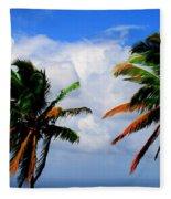 Painted Palm Trees Fleece Blanket
