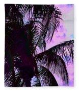 Painted Palms 4 Fleece Blanket