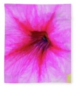 Painted Petunia 344 Fleece Blanket
