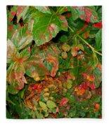 Painted Plants Fleece Blanket