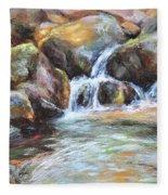 Painted Rocks Fleece Blanket