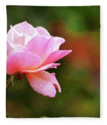 Painted Rose Fleece Blanket