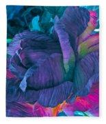 Painted Silk Fleece Blanket
