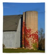 Painted Silo Fleece Blanket