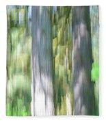 Painted Streaked Trees Fleece Blanket