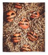 painted tangerines for Halloween Fleece Blanket