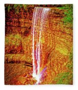 Painted Tews Falls					 Fleece Blanket
