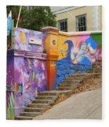 Painted Walls In Valparaiso Fleece Blanket
