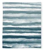 Painterly Beach Stripe 1- Art By Linda Woods Fleece Blanket