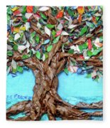 Painters Palette Of Tree Colors Fleece Blanket