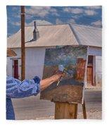 Painting Barrio Viejo Fleece Blanket