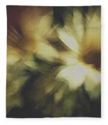 Painting Flowers Fleece Blanket